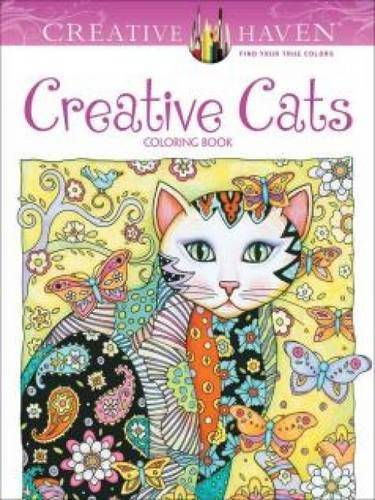 Creative Cats Coloring Book For Adults, By Marjorie Sarnat Of Creative Haven | 10 Best Coloring Books For Adults, Stress Relief Coloring Pages