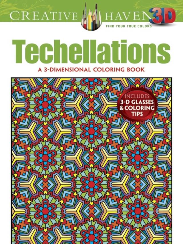 3-D Techellations Coloring Book, by John Wik | 10 Best Coloring Books For Adults, Stress Relief