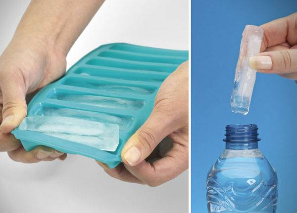 Water Bottle Ice Cube Tray | 10 Unusual And Creative Ice Cube Trays
