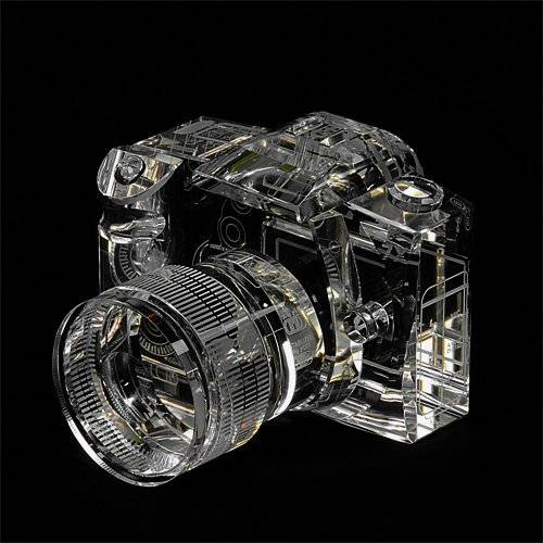 Canon 7D Crystal Replica Paperweight | Top 10 Cool & Creative Best Gifts For Photographers: Funny Camera Gadgets & Accessories Too