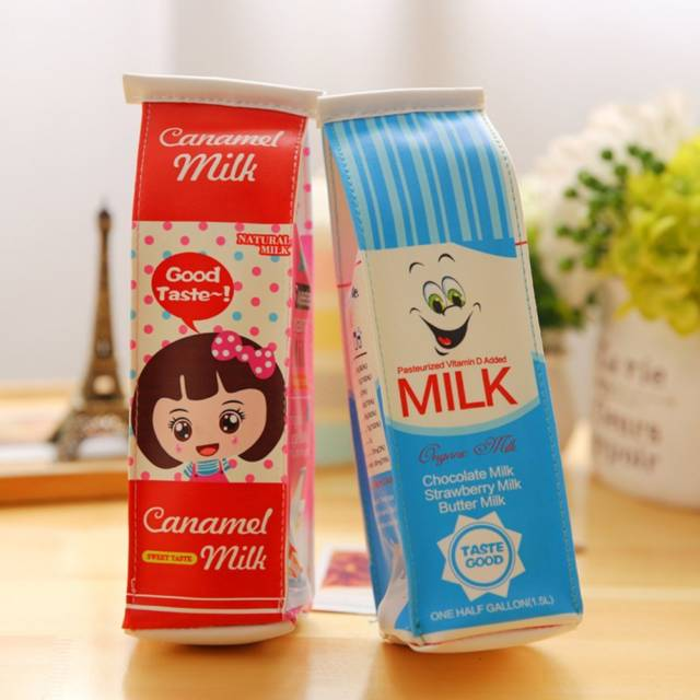 Milk Carton Pencil Case // 10 Unique & Creative Pencil Cases Designs