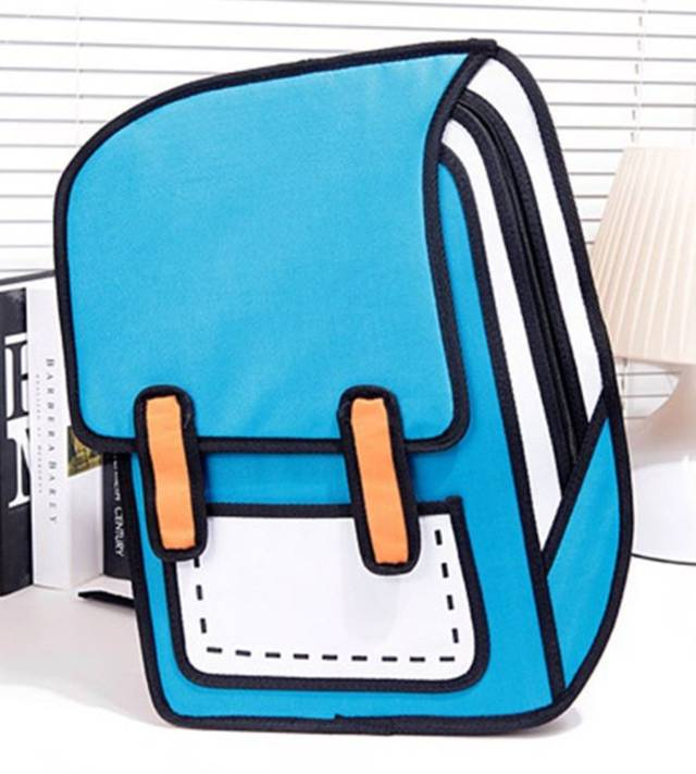 3D Illusion Korean Backpacks // 10 Most Unique & Unusual Backpacks