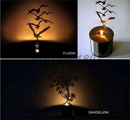 Trees & Birds Shadow Projection Candle Lights // 10 Cool & Creative Candle Designs For Love, Romance & Home Decor