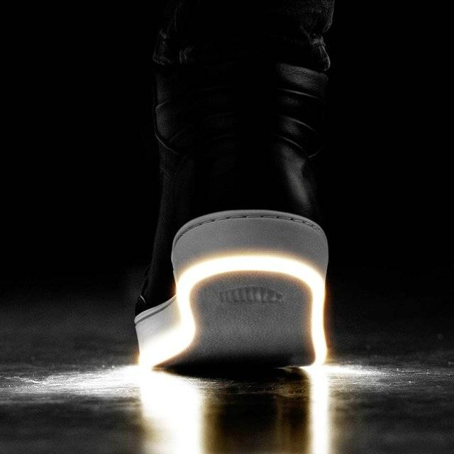 Nightwalker LED Sole Glow White Light Up Shoes // 10 LED Shoes That Light Up At The Bottom And Change Colors Like Crazy