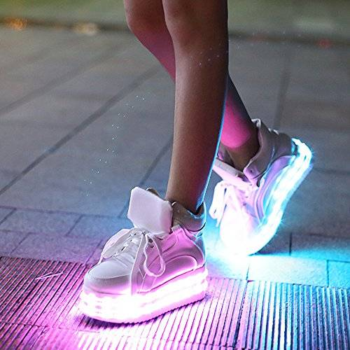 Dual LED Light Up Platform Shoes // 10 LED Shoes That Light Up At The Bottom And Change Colors Like Crazy