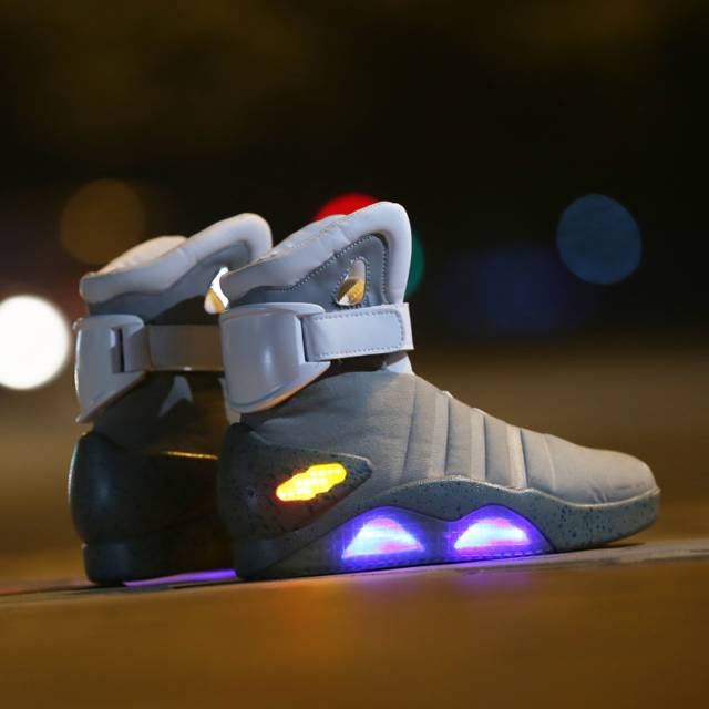 Marty McFly Back To The Future 2 Light Up Shoes // 10 LED Shoes That Light Up At The Bottom And Change Colors Like Crazy