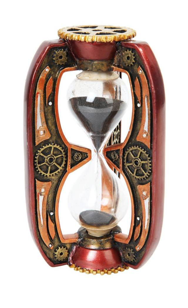 Red Steampunk Inspired Sand Timer Hourglass // 10 Creative STEAMPUNK Decor Accessories & Ideas That Will Change Your Timeline Forever