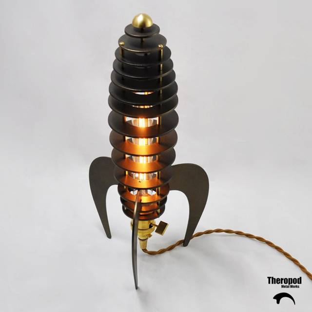 The Steampunk Rocket Lamp // 10 Creative STEAMPUNK Decor Accessories & Ideas That Will Change Your Timeline Forever