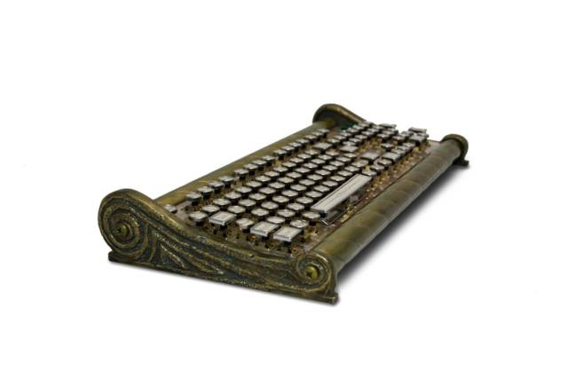 The Seafarer Handcrafted Nautical Cast Brass Steampunk Keyboard // 10 Unique & Cool Computer Keyboards That Will Transform Your Computing Forever