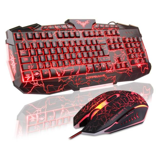 Ultra Cracked LED Backlit Adjustable Keyboard With Mouse // 10 Unique & Cool Computer Keyboards That Will Transform Your Computing Forever