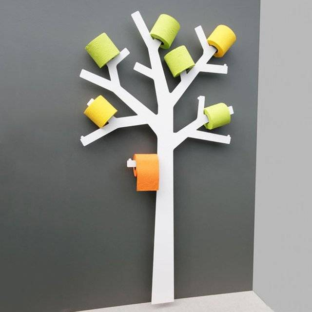 The Toilet Paper Tree Holder // 10 UNIQUE Toilet Paper Holder Designs That  Will Transform