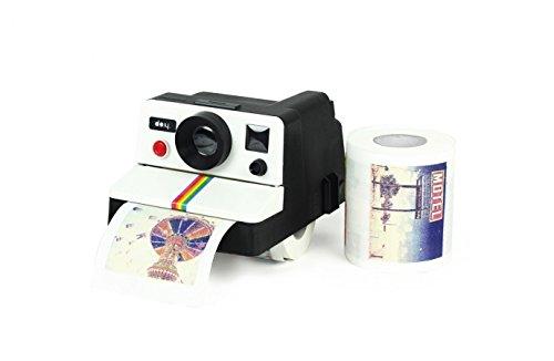 the polaroid camera toilet paper holder