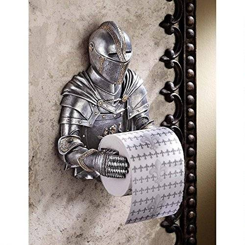 Palace Royal Knight Toilet Paper Holder // 10 UNIQUE Toilet Paper Holder Designs That Will Transform Your Bathroom Forever