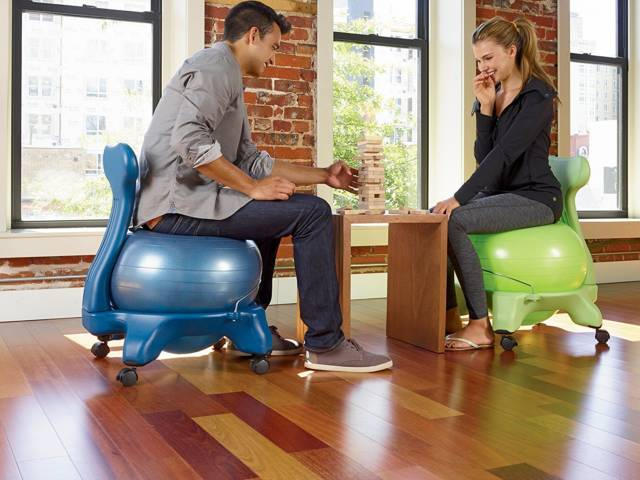 Back Friendly Exercise Balance Ball Chair // 10 Uniquely FUNKY Chair Designs That Will Transform Your Sitting Experience Forever