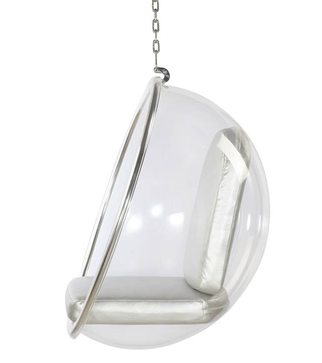 Eero Aarnio Hanging Bubble Chair // 10 Uniquely FUNKY Chair Designs That Will Transform Your Sitting Experience Forever