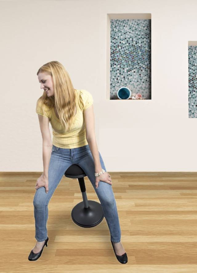 The Wobble Stool Interactive Standing Stool // 10 Uniquely FUNKY Chair Designs That Will Transform Your Sitting Experience Forever