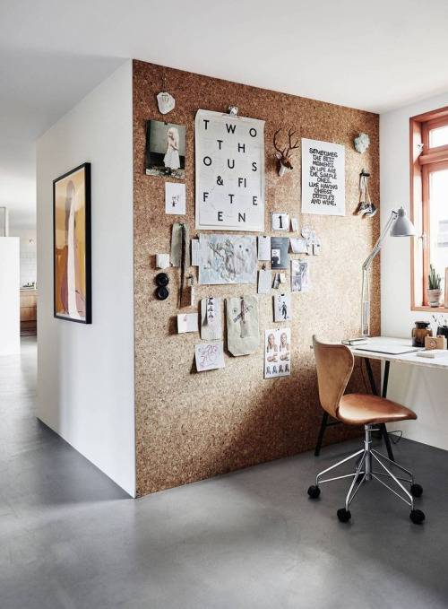 Cork Board Wall, Office Interior Design U0026 Decor // 10 Creative Office Space  Design