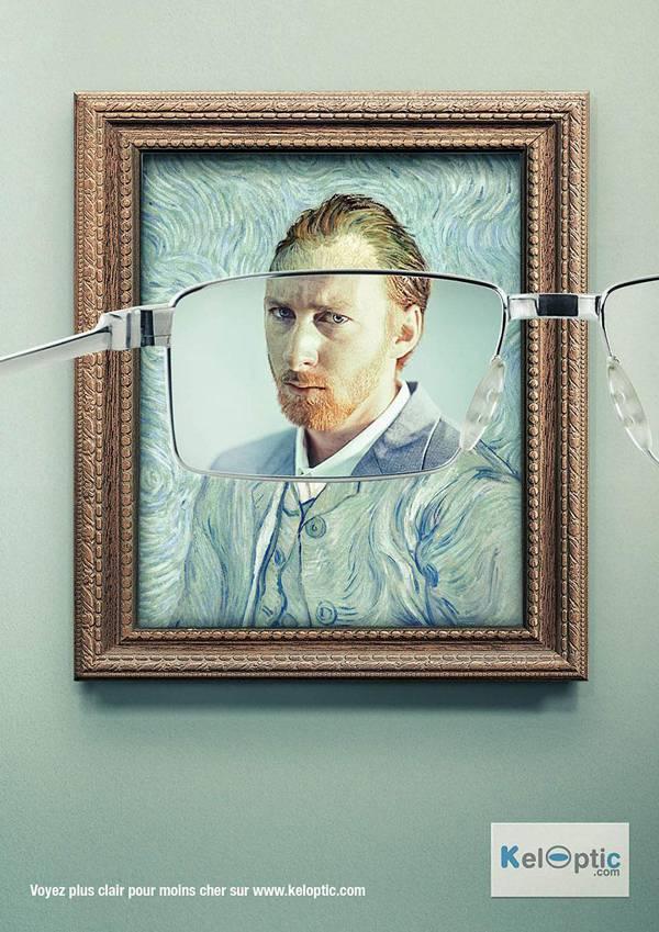 Van Gogh, KelOptics Eyewear Print Ads // Creative Print Ad Campaigns & Advertisements