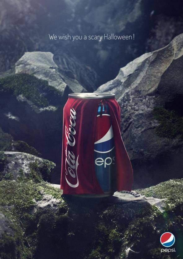 Coca Cola - Pepsi Halloween Print Ads // Creative Print Ad Campaigns & Advertisements