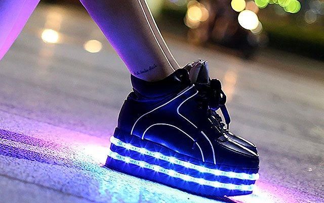 d24fa399 SO YOU'RE BORED of your plain old shoes, and you want those LED ...