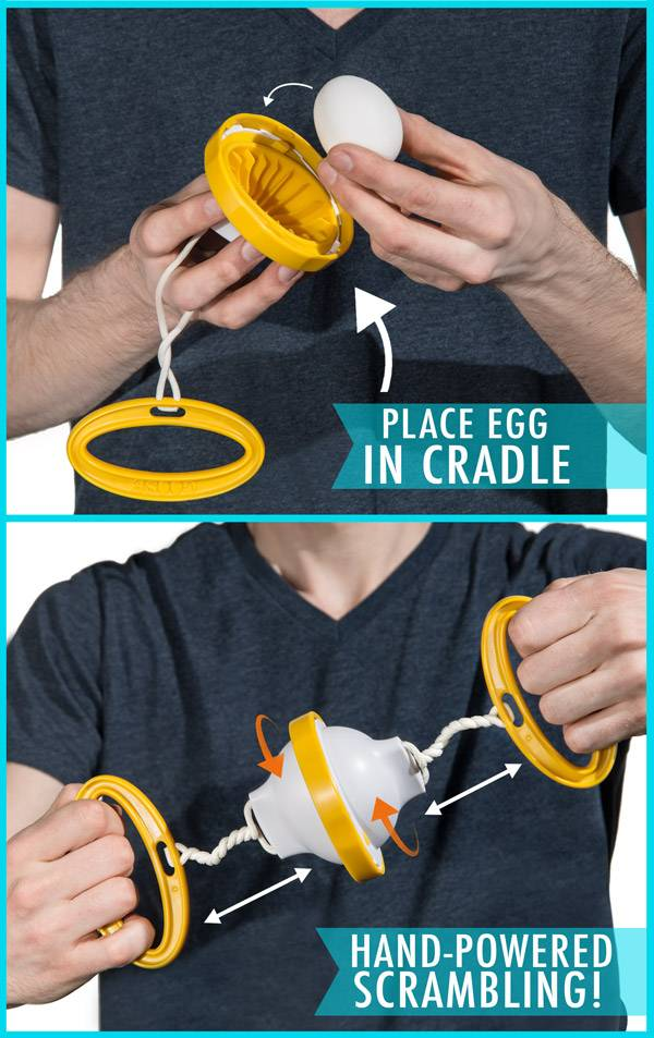 The Golden Goose Egg Scrambler Gadget // 10 CREATIVE Egg Gadgets That Will Get Your Cooking Rave Reviews