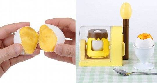 The Okashina Tamago Mawashite Marugoto Purin Egg Scrambler // 10 CREATIVE Egg Gadgets That Will Make Your Mornings Happier