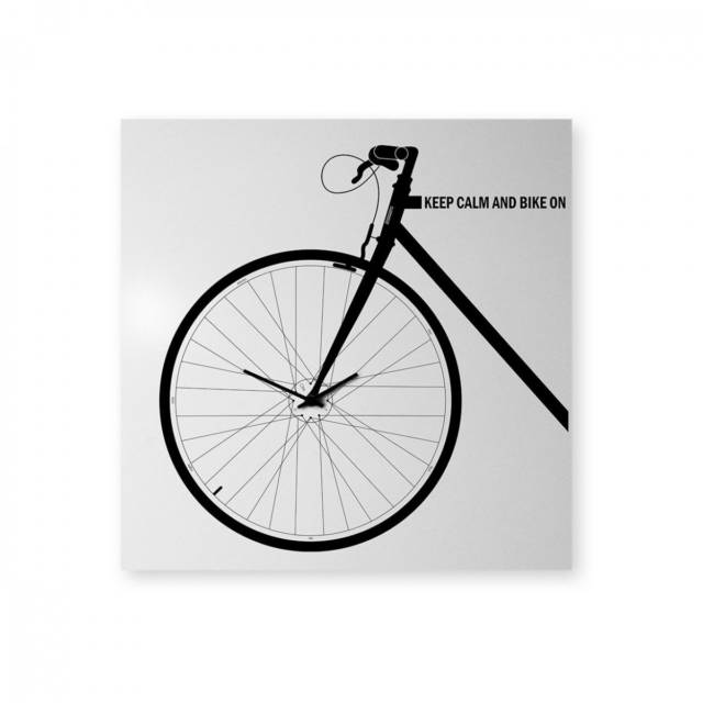 Poster-Like Bicycle Clock // 10 MOST Creative Clocks That Will Inspire Your Time