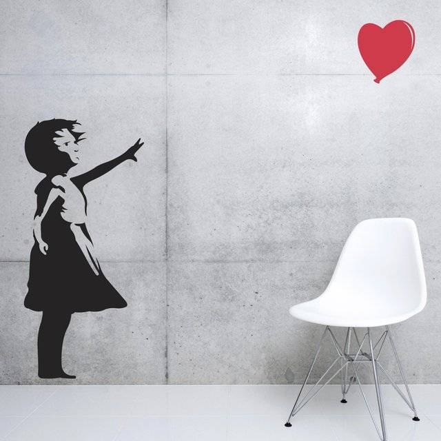 Banksy Love Floats Wall Decal // 10 CREATIVE Art Lover Gifts That Would Amaze Even Van Gogh