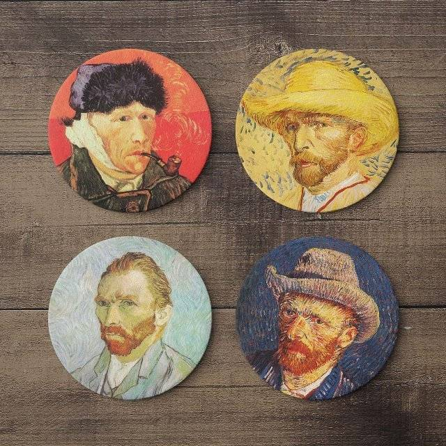 Van Gogh Self Portrait Coaster Set // 10 CREATIVE Art Lover Gifts That Will Artistically Inspire You