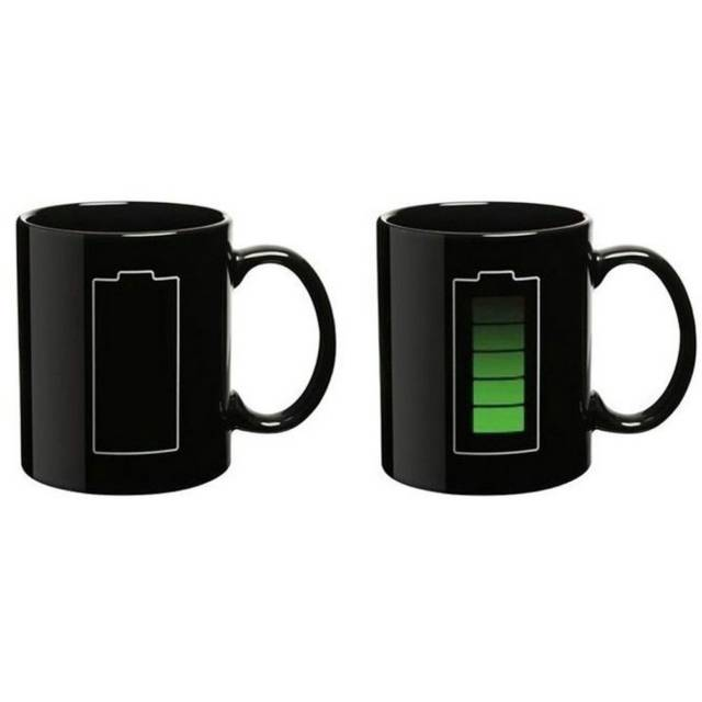 Coffee Power Recharge Color Changing Mug // 10 UNIQUE & Cool Coffee Mugs That Will Fill Your Mouth With Goodness
