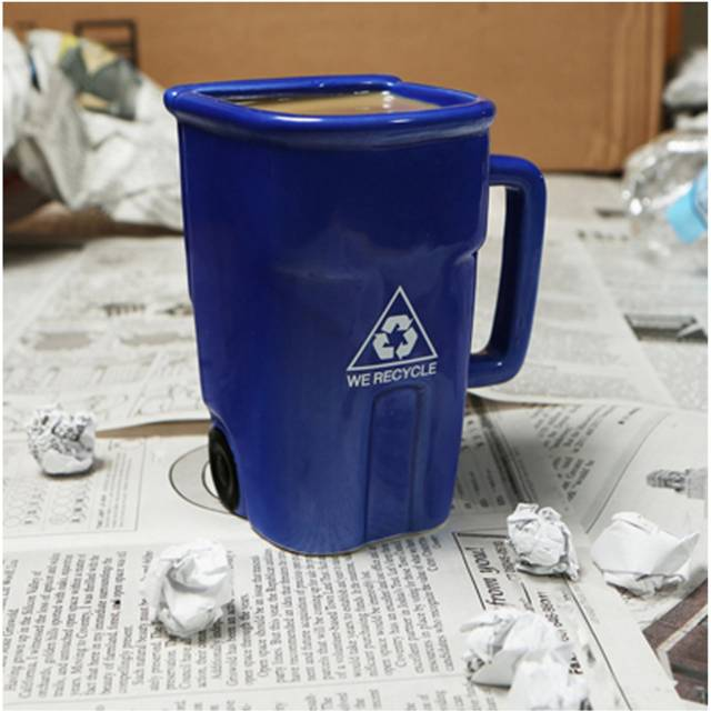 The Recycling Coffee Mug Shows Your Support For Environment // 10 UNIQUE & Cool Coffee Mugs That You Will Just Love To Drink From