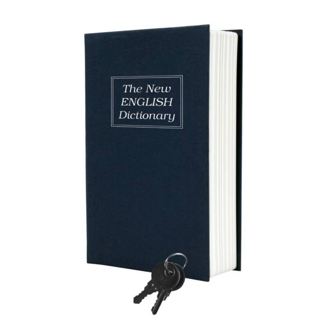 New England Dictionary Diversion Secret Book Safe & Key Lock // 10 CREATIVE Secret Safe Box Designs That Will Hide Your Money Like Never Before
