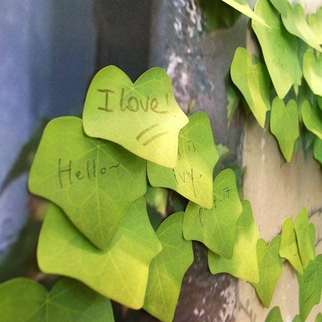Nature's Elegant Leaf Sticky Notes // 10 FUN & Cool Sticky Post It Notes That Will Spur Your Creativity Like Crazy