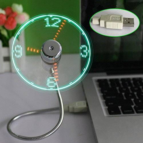 Cool Usb Fan With Led Clock Light Gadget 10 Really Gadgets That