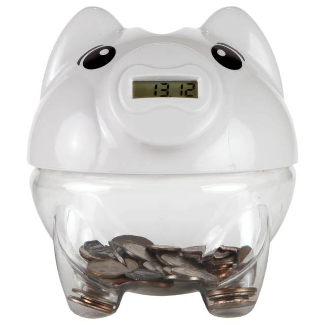 High Tech Digital Piggy Bank With Automatic Coin Counter // 10 UNIQUE & Cool Piggy Banks That Will Guard Your Coins With Their Life