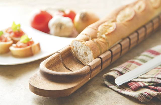 The Baguette Bread Slicer Cutting Board // 10 BEST Cutting Board Designs To Help You Become The Next Iron Chef