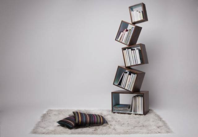The Scary & Remarkable Equilibrium Bookcase // 10 BOOK Furniture Design Pieces That Will Inspire You