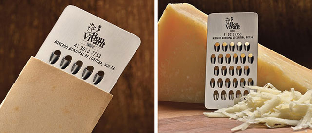 Cheese Company Chees Grater Business Card // 255 Creative & Unique Business Cards Design Inspiration & Ideas