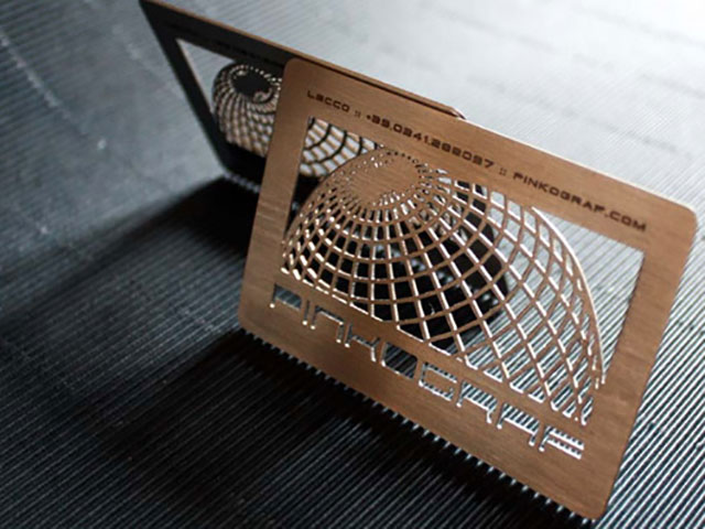 Cool Stainless Steel Metal Cut Business Card // 255 Creative & Unique Business Cards Design Inspiration & Ideas