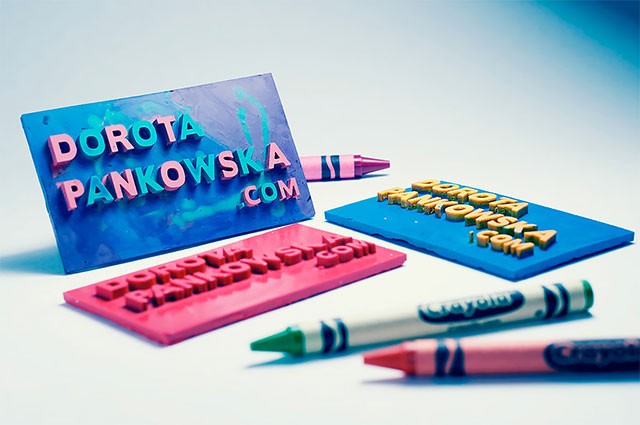 Crayon Drawable Business Card // 255 Creative & Unique Business Cards Design Inspiration & Ideas