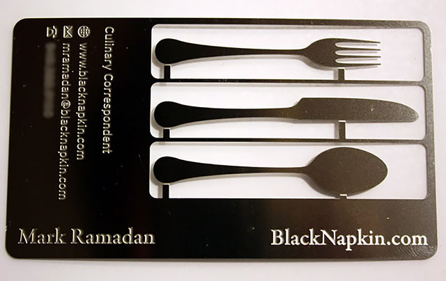 Culinary Correspondent Cutlery Business Card // 255 Creative & Unique Business Cards Design Inspiration & Ideas