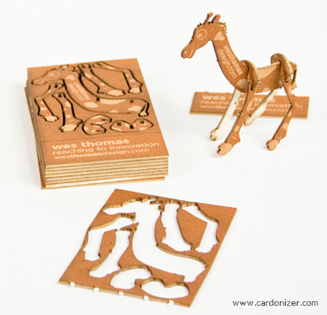 Innovative Cutout Giraffe Puzzle Business Card // 255 Creative & Unique Business Cards Design Inspiration & Ideas