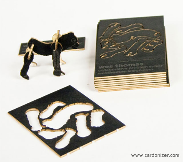Innovative Cutout Animals Puzzle Business Card // 255 Creative & Unique Business Cards Design Inspiration & Ideas