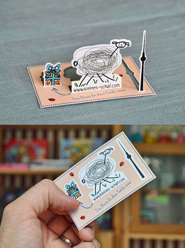 Decorative Children's Products Business Card // 255 Creative & Unique Business Cards Design Inspiration & Ideas