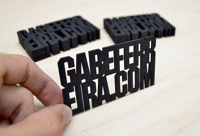 Die Cut Text Business Card // 255 Creative & Unique Business Cards Design Inspiration & Ideas