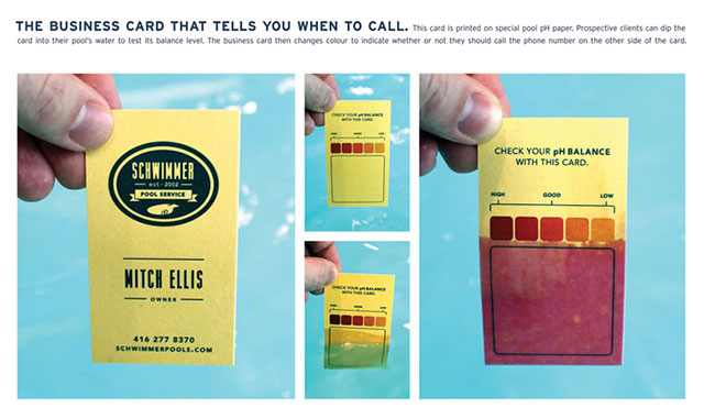 255 of the most creative business cards ever 111 blew my mind swimming pool ph card colourmoves