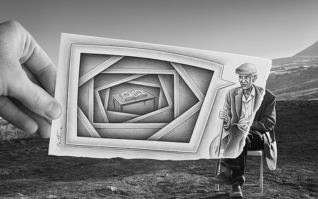 This Artist Was Inspired To Mix Drawing With Photography