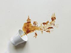 Spilt Coffee Art