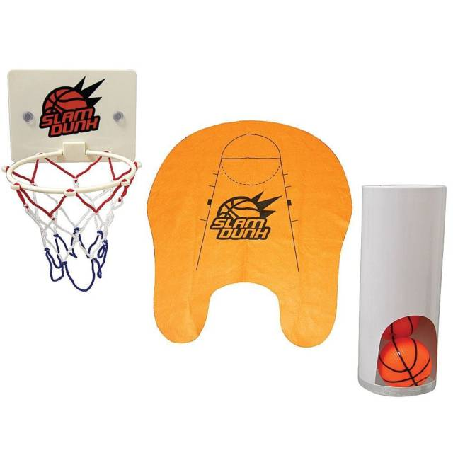 Novelty Toilet Bathroom Basketball Slam Dunk Game Set // 10 CREATIVE Bathroom Toilet Games You Can Play While Fighting Constipation