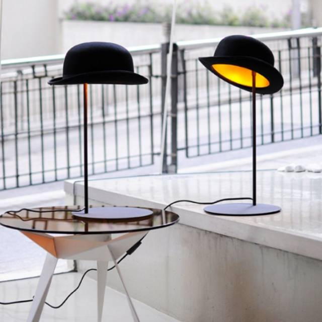 Jeeves Tipping Hat Table Lamp // 10 CREATIVE & Funky Lighting Designs That Will Make Your Home Incredible